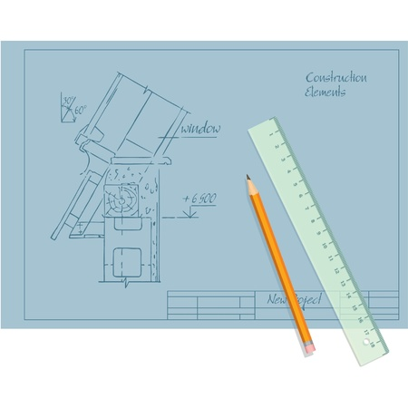 draft beer: Construction Draft, Pencil and Ruler
