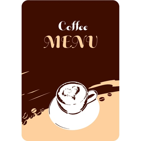 Template Coffee Menu Design  Vector