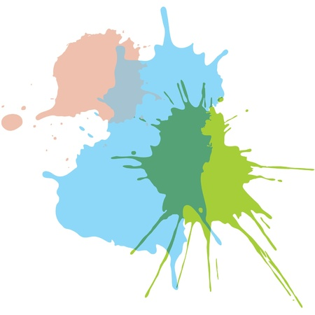 Paint Splats - Splashing Watercolor  Vector