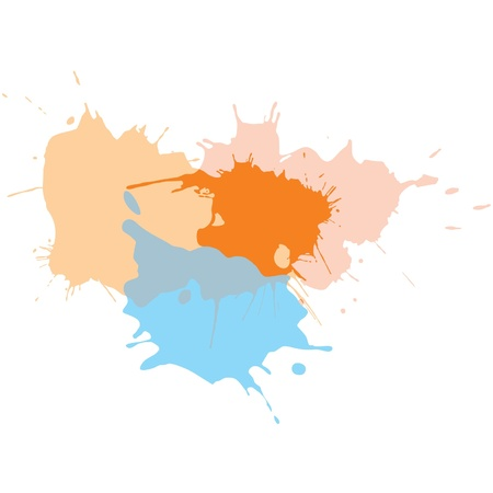 Paint Splats - Splashing Watercolor  Stock Vector - 11113816