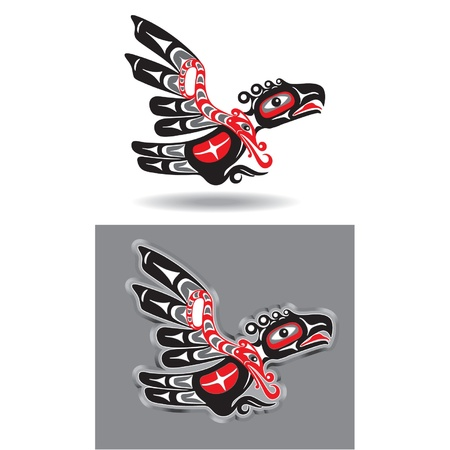 Eagle in Native American Style Stock Vector - 11113888