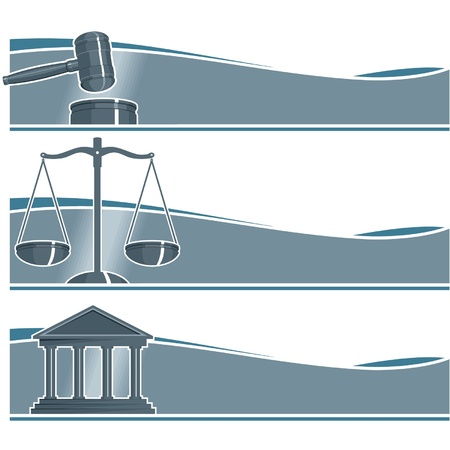 justice scales: Set of Attorney Banners