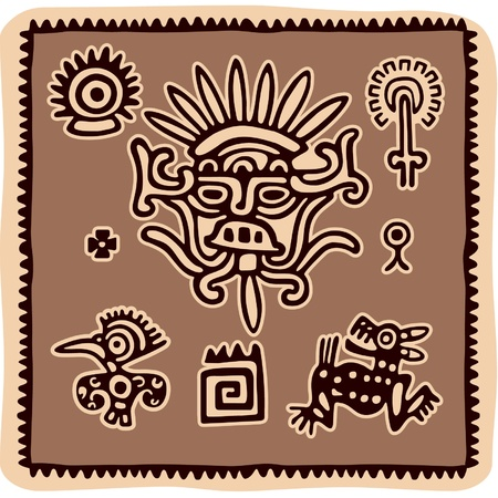 national cultures: Set of Mexican Design Elements  Illustration