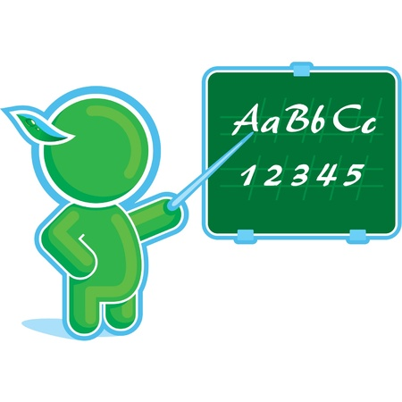 Green Hero as a Teacher  Stock Vector - 11113894