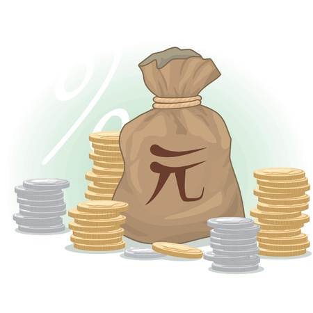 moneybag: Money Bag with Yuan (Chinese Currency) Symbol and Coins