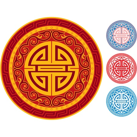 Oriental Ornament Rosette Vector