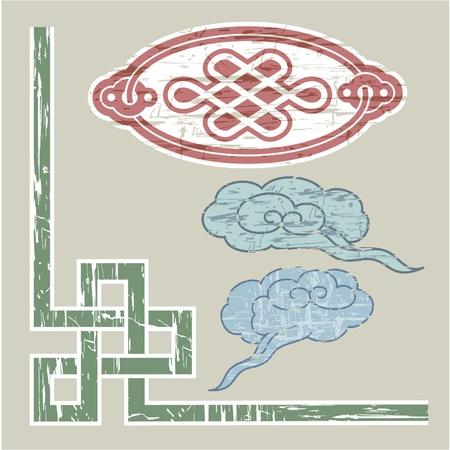 national border: Oriental Border and Ornament  Illustration