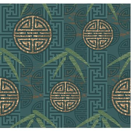 orientalische muster: Oriental Nahtlose Kachel (Wallpaper)