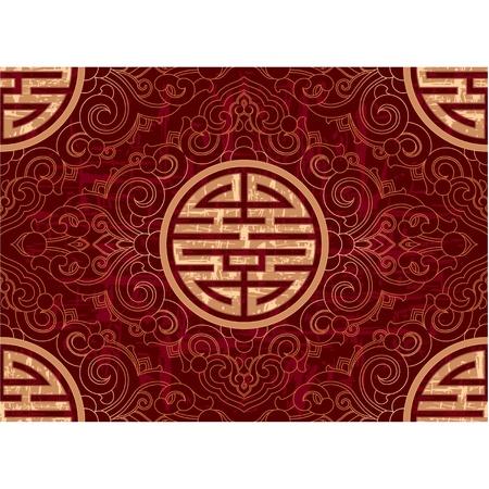 Oriental naadloze tegel (wallpaper achtergrond textuur)