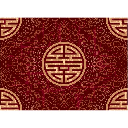 Oriental Seamless Tile (wallpaper background texture)  Vector