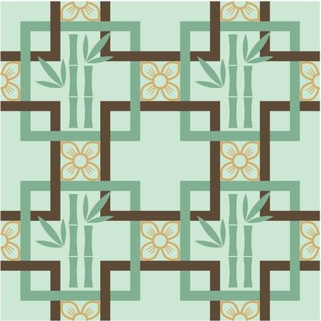korean: Oriental Seamless Tile (Wallpaper)