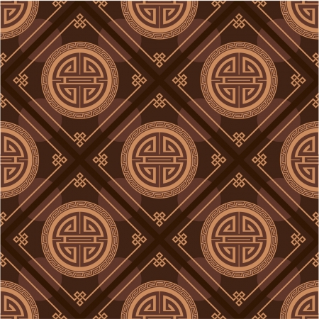 japanese pattern illustration: Oriental Seamless Tile (Wallpaper)