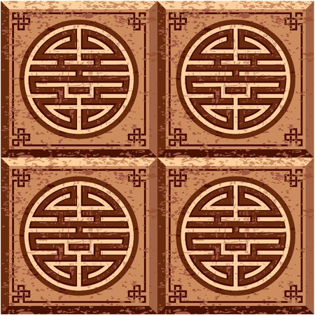 Oriental Grunge Seamless Tile (Wallpaper) Stock Vector - 11113838