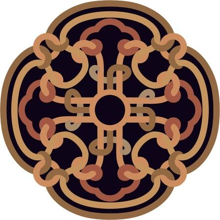 rosette: Ornament Rosette - Design Element  Illustration