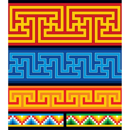Set of Oriental Seamless Borders Stock Vector - 11113856