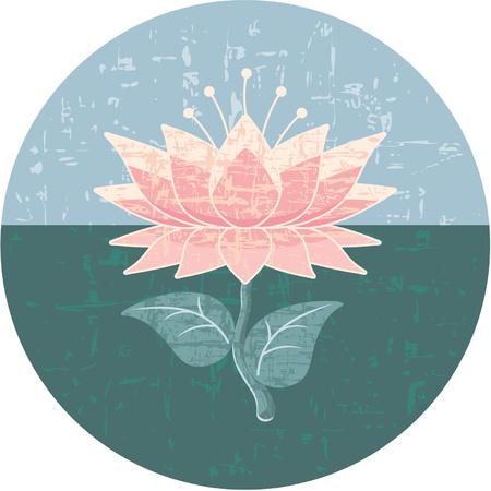 flor de loto: Elemento de dise�o oriental - Lotus Rosette