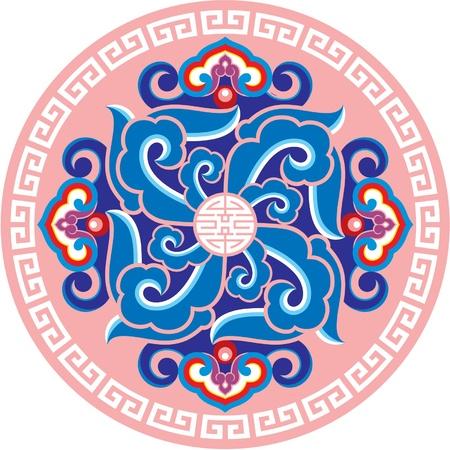 Ornament Rosette - Oosterse Ontwerp Element Vector Illustratie