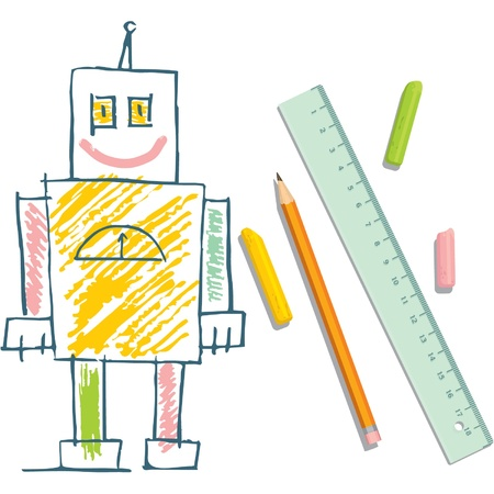 child's drawing: Childs Drawing of Robot