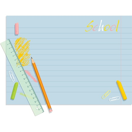 yellow notebook: School Template Schedule Background (Back to School)  Illustration