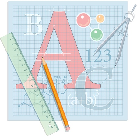 Education Theme Composition - School Vector