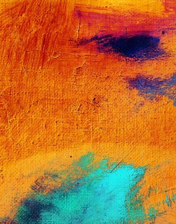 Abstracte kunst Achtergrond - Canvas Schilderij Stockfoto