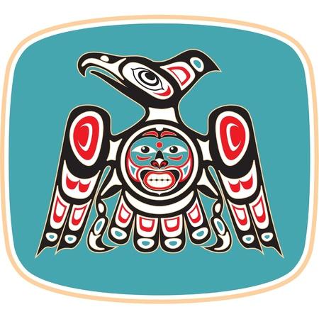 indigenas americanos: Eagle - Estilo del nativo americano Vectores