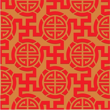 chinese knot: Chinese Oriental Seamless Tile (Wallpaper) Illustration