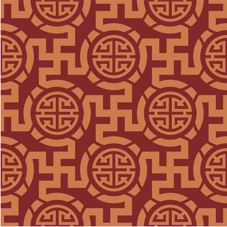 Chinese Oriental Seamless Tile (Wallpaper) Ilustrace