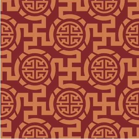 Chinese Oriental Seamless Tile (Wallpaper) Illustration
