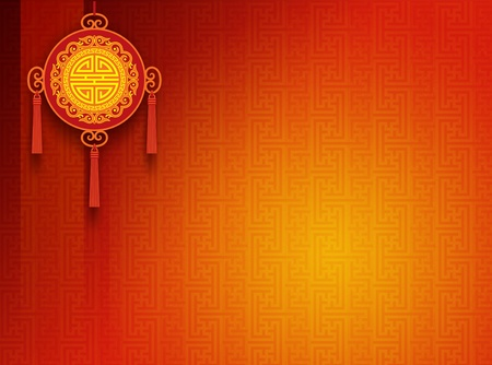 new year poster: Oriental Background Stock Photo