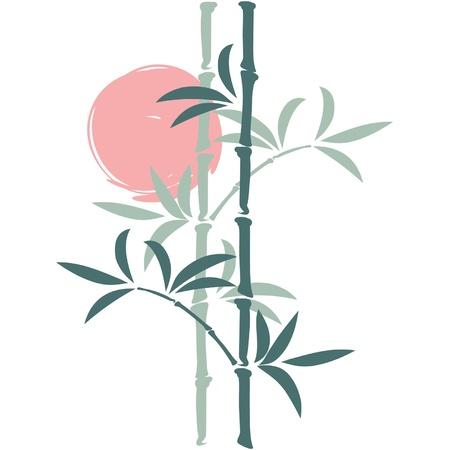 Oriental Bambú Vector Ilustración de vector