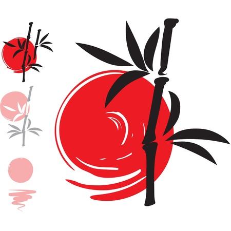 oriental vector: Oriental Vector Bamboo Illustration