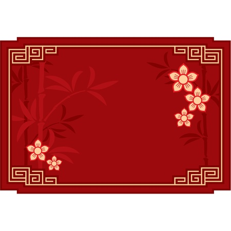 bamboo border: Vector Oriental Layout Composition (cover, invitation, blank, page, background)  Illustration
