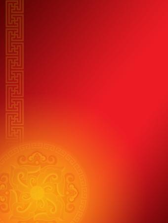 orientalische muster: Chinesische Oriental Pattern Background