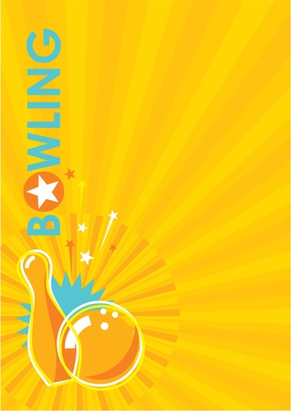 Bowling Poster Background Vector