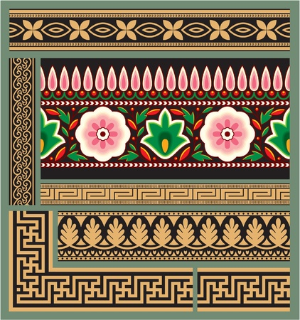 indian art: Set of Seamless Borders