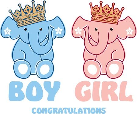 Cute Baby Elephants Stock Vector - 12123485