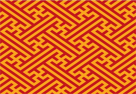swastika: Oriental Seamless Pattern Illustration