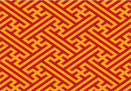 Oriental Seamless Pattern Illustration