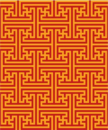 swastika: Oriental Seamless Pattern