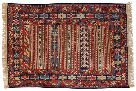 wool rugs: Traditional Oriental Carpet in Nomad Style - Kilim (Kelim)