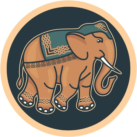 India - hind� - Elefante decorado