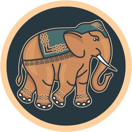 indian elephant: Indian - Hindu - Decorated Elephant