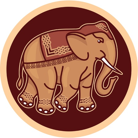 Indian - Hindu - Decorated Elephant Stock Vector - 12826020