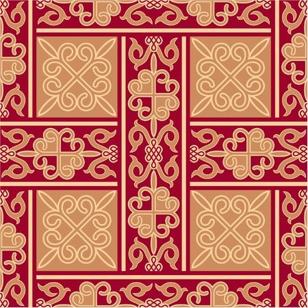 oriental vector: Vector Oriental Seamless Pattern Illustration