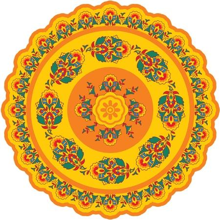 Oriental - Indian - Pattern Rosette Vector