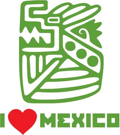 I Love Mexico Template Design Stock Vector - 12826124