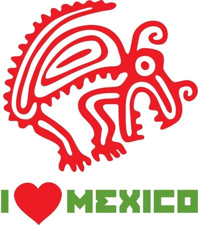 I Love Mexico Template Design Stock Vector - 12826127