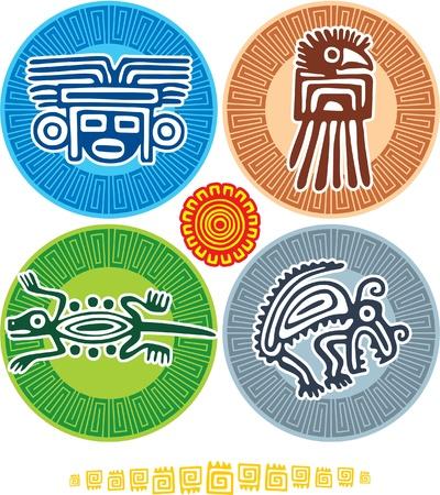 aztec art: Set of Mexican Design Elements