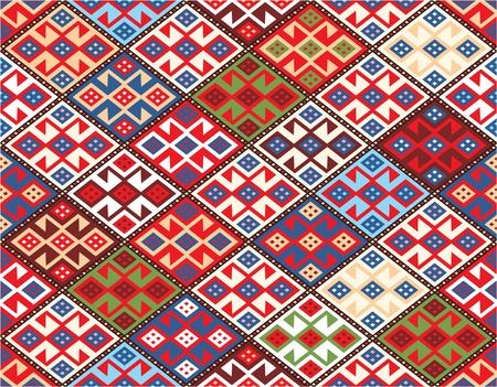 nomadic: Oriental Seamless Pattern - Nomadic Rug Including Vector Format
